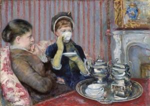 """""""Tea"""" por Mary Cassatt, 1880"""