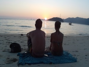 Sunset en Koh Adang