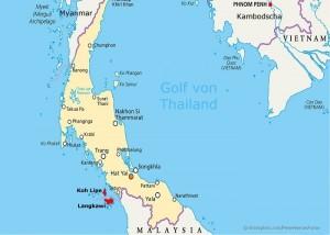 mapa de koh lipe a langkawi