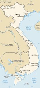 Mapa de Vietnam