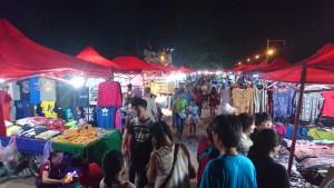 Mercado nocturno de Vientián